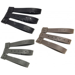 "Set of 3pcs strap buckle MOLLE 5"" in different color"