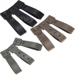 "Set of 3pcs strap buckle MOLLE 3"" in different color"