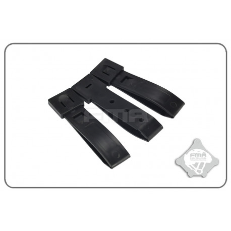 "Set of 3pcs strap buckle MOLLE 3"" Black"