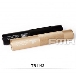 Aluminium Silencer Navy Force Black or Tan of 198mm in 14mm CW and CCW