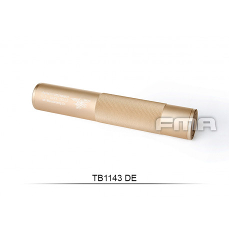 Aluminium Silencer Navy Force Tan of 198mm in 14mm CW and CCW