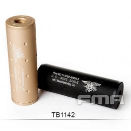 Silencieux aluminium Navy Force Noir ou Tan de 107mm en 14mm CW ou CCW