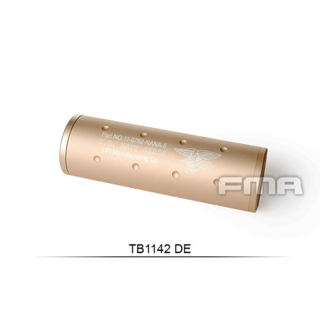 Aluminium Silencer Navy Force Tan of 107mm in 14mm CW and CCW
