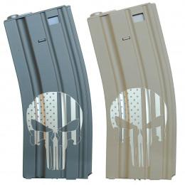 Chargeur Punisher USA M4 Hi-cap 300 billes Noir ou Tan