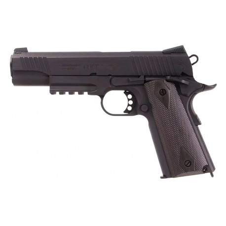 GBB Pistol Colt 1911 Rail gun Co2 Mat Black