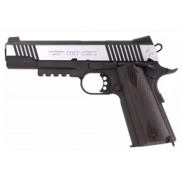 GBB Pistol Colt 1911 Rail gun Co2 Bicolour