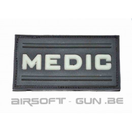PATCH VELCRO BLACK MEDIC