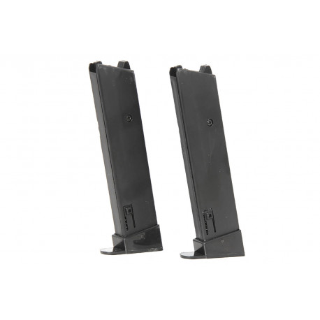 Pack of 2 magazine for pistol 1911 spring powered KWC