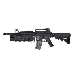 Réplique d'assaut M4A1 avec M203 AEG Noir ECEC Système vue 1