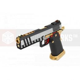 AW GBB HX2001 Black/Gold/Silver/Red full slide vue 1