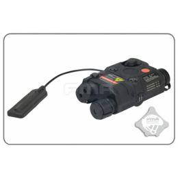 Boitier AN/PEQ-15 LED+Laser rouge et filtre IR en noir