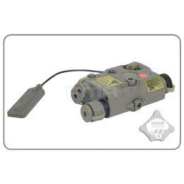 Boitier PEQ LA5 LED+Laser rouge et filtre IR en foliage green