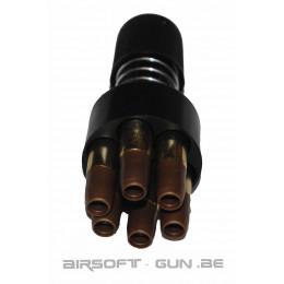 speedloader + 6 douilles Dan Wesson 6mm