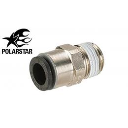 Air Line Input Fitting 6mm to 1/8 PTC ( NPT ) thread