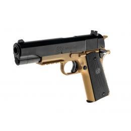 Pistolet Colt 1911 Manuel à ressort bi-couleur Noir et Dark Earth