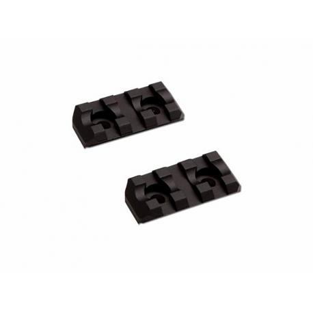 M-lok Rail Set 2pc 3 slots Black