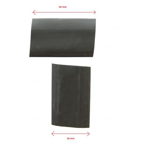 Set of 2 Heat Shrink tube Black 18mm ( 5cm )