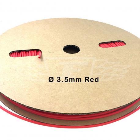 Heat Shrink tube Black 3.5mm ( 1 meter ) Red