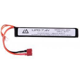 Batterie Lipo 7.4V 1200Mah 20C type stick Dean