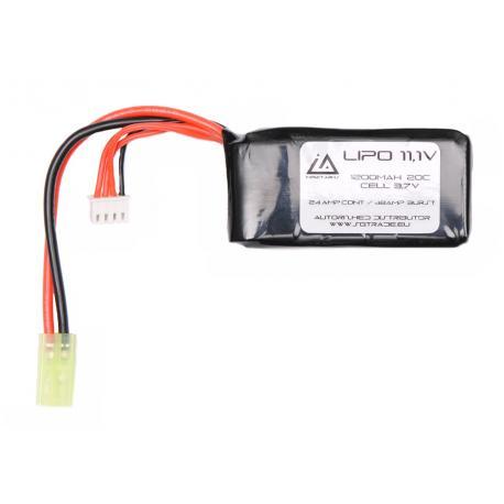 Battery Lipo 11,1V 1200Mah 20C Type PEQ Mini Tamiya