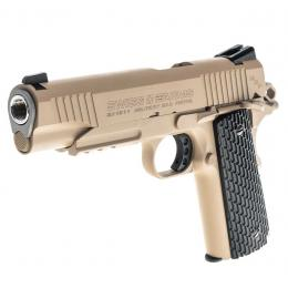 Colt 1911 GBB Pistol Military Co2 4.5mm Full metal Tan