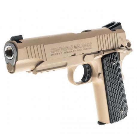 Pistolet 1911 Military GBB Co2 4.5mm Full metal Tan