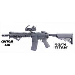 "Custom By AG M4 MK18 MOD1 9"" AEG Noir ECEC Sytem + Gate Titan"