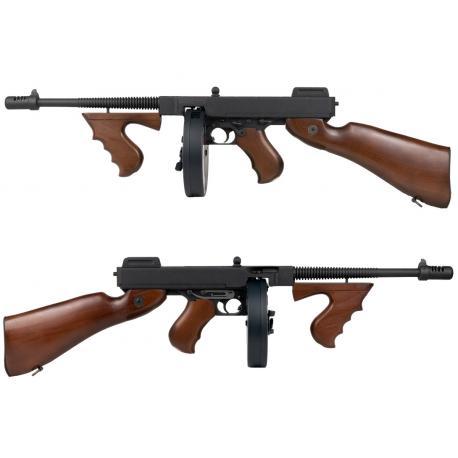 Pistolet mitrailleur Thompson M1928 Bois metal + mosfet