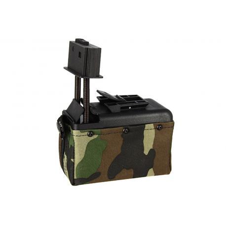 Ammobox 1500 billes Woodland pour M249
