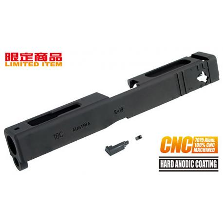 Culasse 7075 Aluminum CNC pour G18C Tokyo Marui Noir