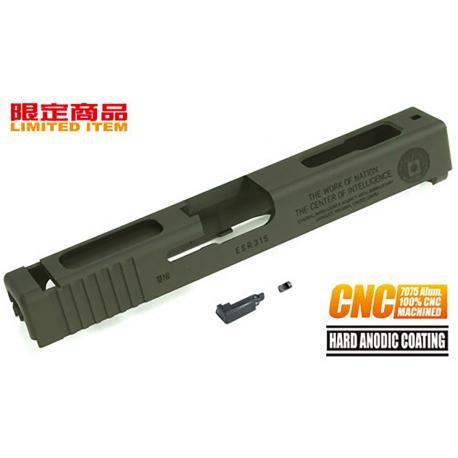 Culasse 7075 Aluminum CNC CIA 60th pour G18C Tokyo Marui Olive