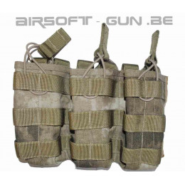 SWAT Cordura M4 molle triple poche ouverte