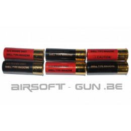 Pack de 6 cartouches pour shotgun type M56 de 30 billes