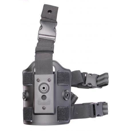 Amomax plaque de cuisse pour holster et porte chargeur Noir