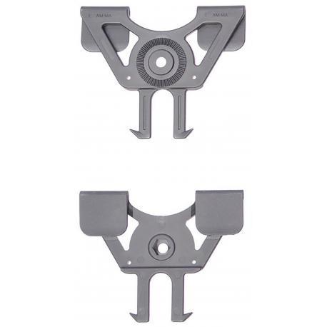 Amomax fixation MOLLE pour holster et porte chargeur Noir
