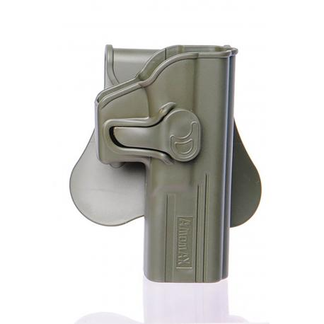 Amomax Holster pour Glock 17/22/31 GEN 2 Olive Drab droite