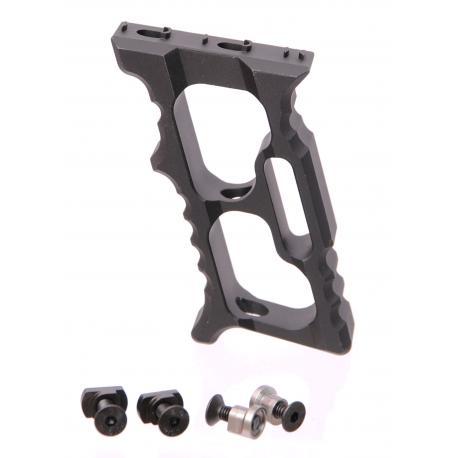Poignée Aluminium TD Minivert pour Keymod et M-Lok noir