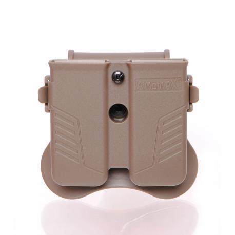 Porte chargeur double universel pour 9mm /.40 / .45 Dark Earth