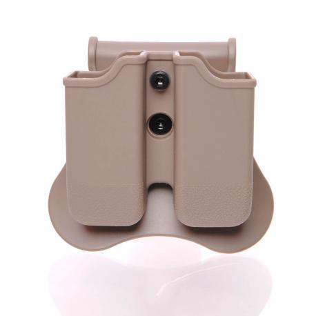 Porte chargeur double pour Glock et SIG SP2022 Dark Earth