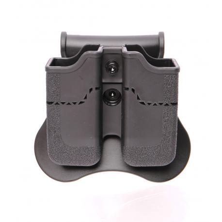 Porte chargeur double pour PX4 / USP / USP compact / P30 / Taurus Noir