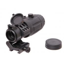 3X Magnifier avec montage basculant en acier