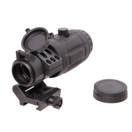 4X Magnifier avec montage basculant en acier