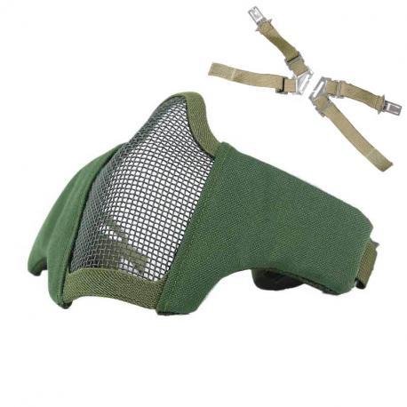 Masque de protection faciale Stalke EVO avec fixation tête + casque Olive Drab