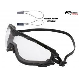 Goggle Super 64 verre transparent avec fixation tête et casque