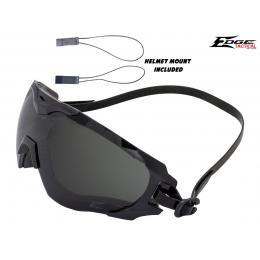 Goggle Super 64 verre noir avec fixation tête et casque