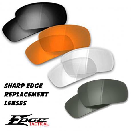 Verres balistique de rechange pour lunettes Sharp Edge en divers coloris