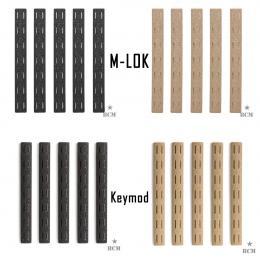 BCM Keymod or M-Lok rail panel kit in Black or Dark earth