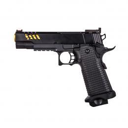Gas pistol hi-capa 5.1 custom black/gold + pistol case