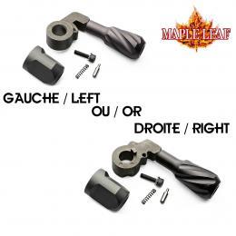 Levier d'armement VSR Twisted Solid + capuchon de fin de cylindre en Gaucher ou Droitier