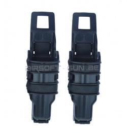 Fast mag chargeur GBB ou Mp5 2 pcs Noir